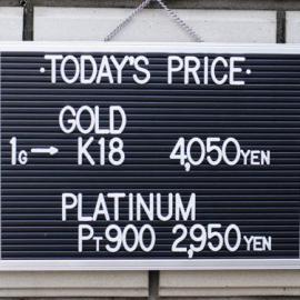 2019年11月28日 金・プラチナ買取価格