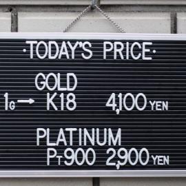 2019年12月8日 金・プラチナ買取価格