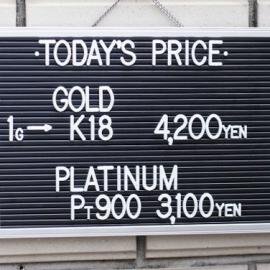 2019年12月30日 金・プラチナ買取価格