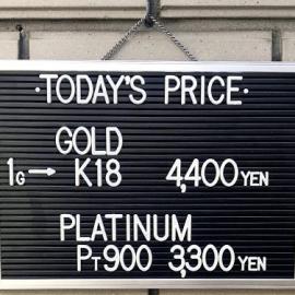 2020年2月18日 金・プラチナ買取価格