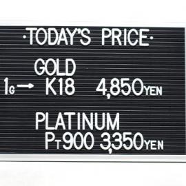 2021年1月19日 本日の金・プラチナ買取価格