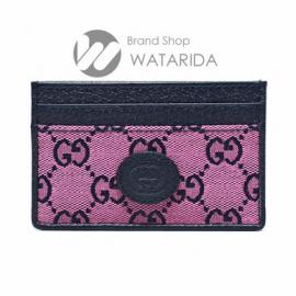 【New arrivals】グッチ GG マルチカラーキャンバス ピンク&ブルー カードケース 659601