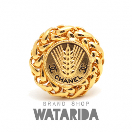 【New Arrivals】シャネル ヴィンテージ 小麦デザイン ビッグイヤリング