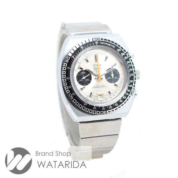 川崎の質屋【渡田質店】エトナ 腕時計 ヴィンテージ LIGHT JET DOUBLE CHOCKED 507 手巻 社外ブレス SS 2カウンタークロノ バルジュー7734 【送料無料】ご紹介です。