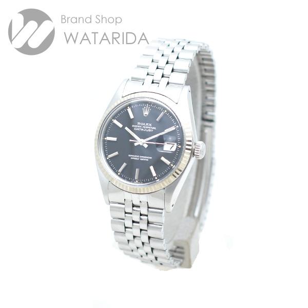 川崎の質屋【渡田質店】ロレックス 腕時計 ヴィンテージ デイトジャスト Ref.1601 3番 黒文字盤 SS WG 箱・保付 【送料無料】のご紹介です。