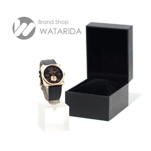 川崎の質屋【渡田質店】ベル&ロス 腕時計 BRS-70-R 39mm 手巻 ローズゴールド RG750 黒文字盤 【送料無料】のご紹介です。