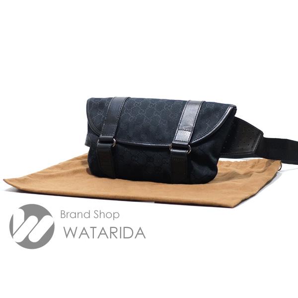 川崎の質屋【渡田質店】グッチ バッグ GGキャンバス ボディバッグ 145851 レザー 保存袋付【送料無料】のご紹介です。