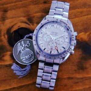オメガ スピードマスター ブロードアロー コーアクシャル GMT 3581.30 買取実績1