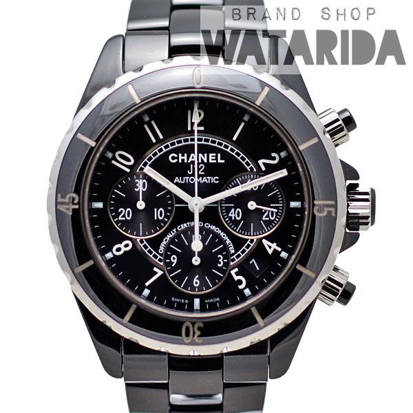 川崎の質屋【渡田質店】シャネル 腕時計 J12 AT クロノグラフ H0940 セラミック SS ブラック 箱保付 【送料無料】のご紹介です。