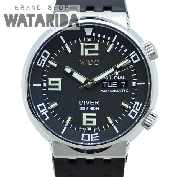 川崎の質屋【渡田質店】ミドー 腕時計 ダイバー 200m AT デイト All Dial Diver Automatic 8370.4.58.91 SS ラバー 当店オリジナルボックス付【送料無料】のご紹介です。