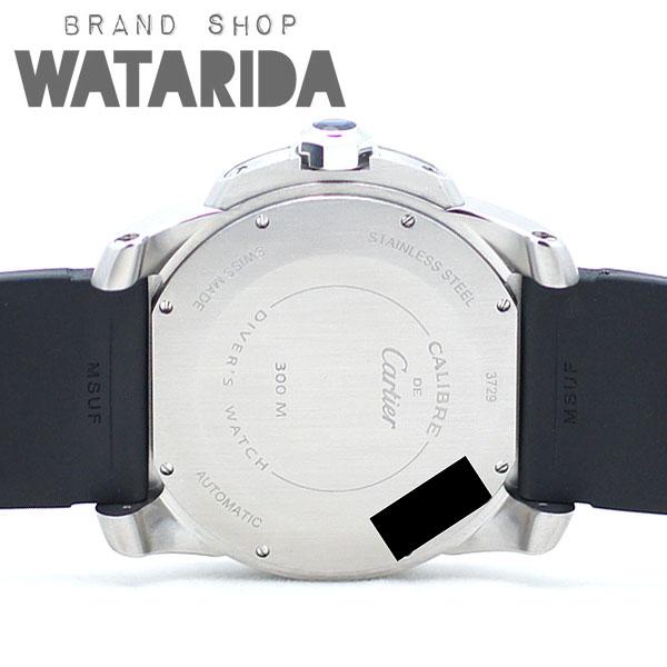 川崎の質屋【渡田質店】カルティエ 腕時計 カリブル ドゥ カルティエ ダイバー W7100056 ブラック 箱・保付 コンプリートサービス済 【送料無料】のご紹介です。