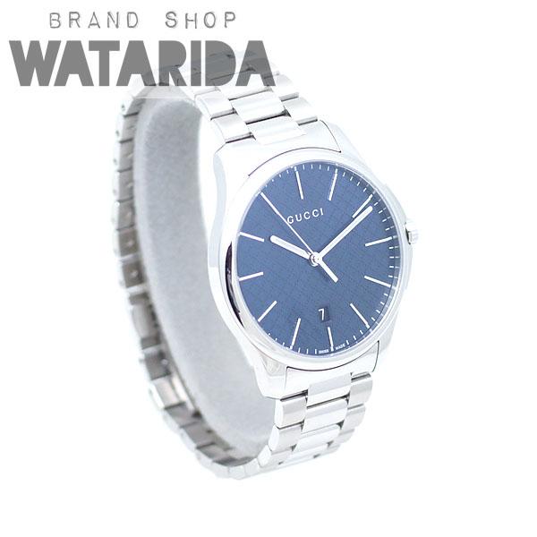 川崎の質屋【渡田質店】グッチ 腕時計 Gタイムレス スリム Qz YA126316 126.3 ネイビー文字盤 箱・保証書申込書付 【送料無料】のご紹介です。