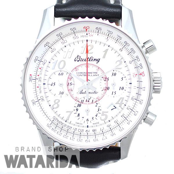 川崎の質屋【渡田質店】ブライトリング 腕時計 モンブリラン01 AB0130 SS 革ベルト 箱・ベゼルカバー付 【送料無料】のご紹介です。