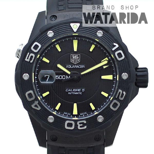 川崎の質屋【渡田質店】タグホイヤー 腕時計 アクアレーサー WAJ2180.FT6015 ブラック ラバー SS 箱・保付 【送料無料】のご紹介です。
