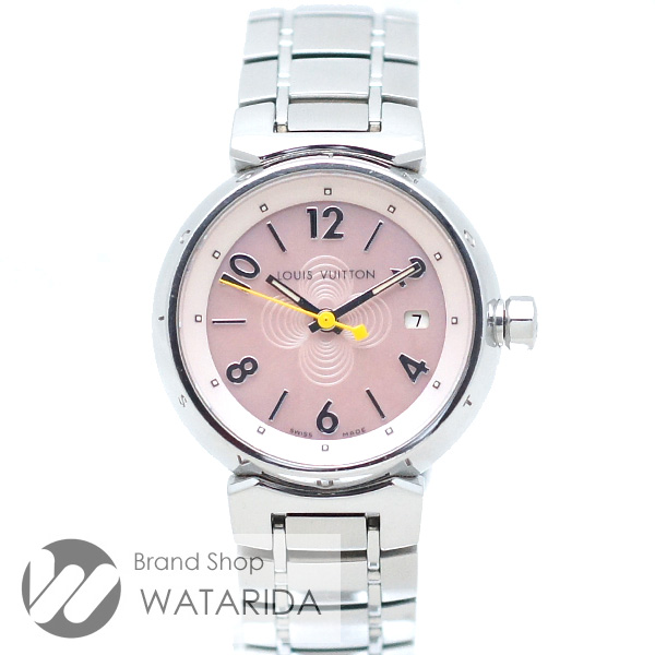 川崎の質屋【渡田質店】ルイヴィトン 腕時計 タンブール Q1216 SS Qz ピンクシェル文字盤 【送料無料】 のご紹介です。