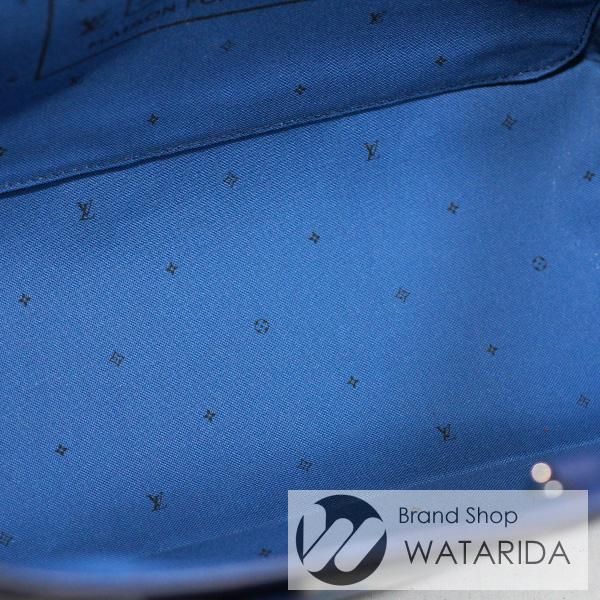 川崎の質屋【渡田質店】ルイヴィトン バッグ LVエスカル ネヴァーフル MM M45128 ブルー ジャイアント・モノグラム 箱・袋付 2020SS 未使用品 【送料無料】のご紹介です。