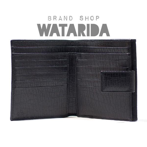 川崎の質屋【渡田質店】グッチ 財布 バンブー Wホックウォレット 11251 ブラック 箱付 のご紹介です。
