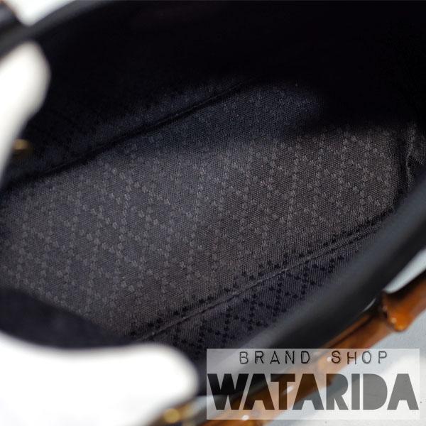 川崎の質屋【渡田質店】グッチ バッグ 2WAY ヴィンテージ バンブースエードバッグ 000 2214 0290 ブラック 保存袋付【送料無料】のご紹介です。