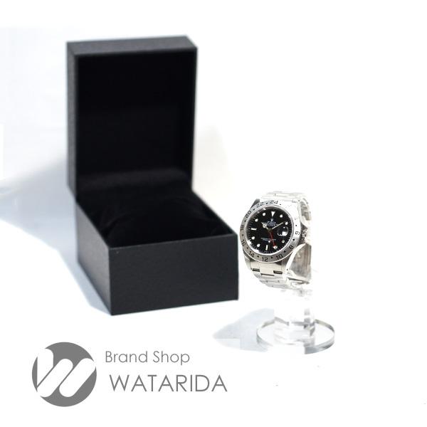 渡田の質屋【渡田質店】ロレックス 腕時計 エクスプローラーII Ref.16570 A番 オンリースイス文字盤 横穴 ダブルロックバックル SS ブラック のご紹介です。