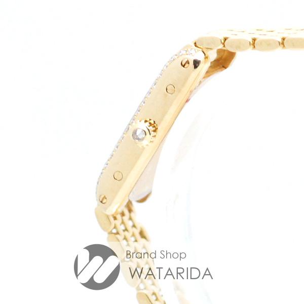渡田の質屋【渡田質店】カルティエ 腕時計 タンクアロンジェ サイド ダイヤモンド WB3005A3 YG750 Qz アイボリー文字盤 内箱・修理明細・説明書付 のご紹介です。