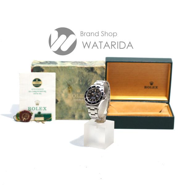 川崎の質屋【渡田質店】ロレックス 腕時計 サブマリーナ デイト Ref.16800 88番台 オールトリチウム フチあり 溝なしブレス SS 黒文字盤 箱・保付  のご紹介です。