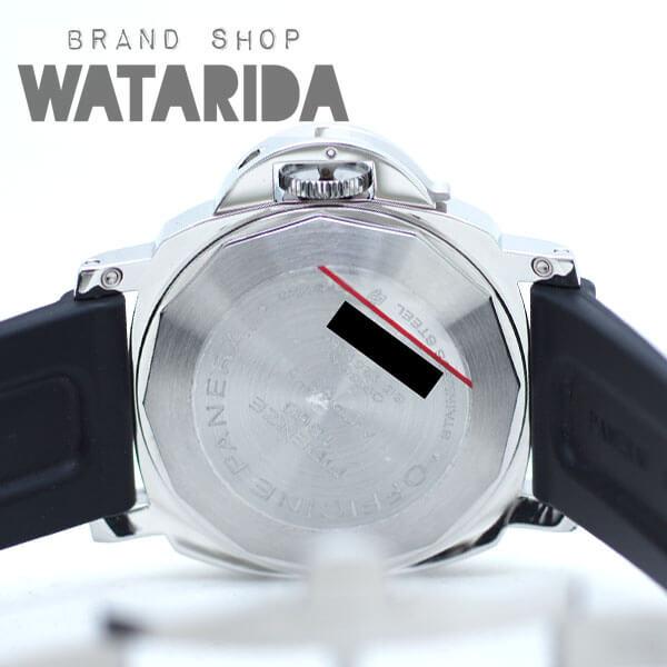 川崎の質屋【渡田質店】パネライ 腕時計 ルミノールマリーナ 44mm K番 PAM00104 SS ラバーベルト Dバックル 社外クロコダイルベルトx2 箱・保付 【送料無料】のご紹介です。