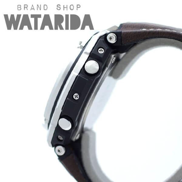 川崎の質屋【渡田質店】カシオ 腕時計 G-STEEL GST-W130L-1AJF シルバー 人工皮革ベルト 箱・替えベルト付 【送料無料】のご紹介です。