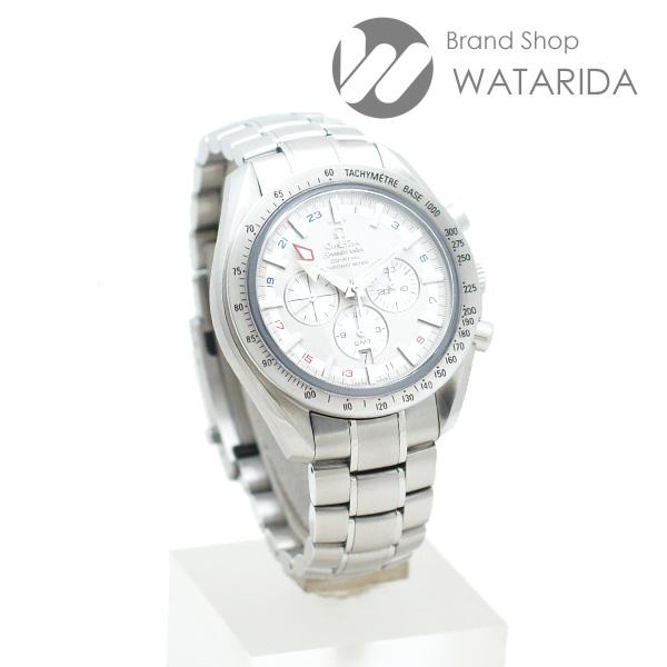 川崎の質屋【渡田質店】オメガ 腕時計 スピードマスター ブロードアロー GMT 3581.30 ホワイト文字盤 箱・説明書付 【送料無料】のご紹介です。