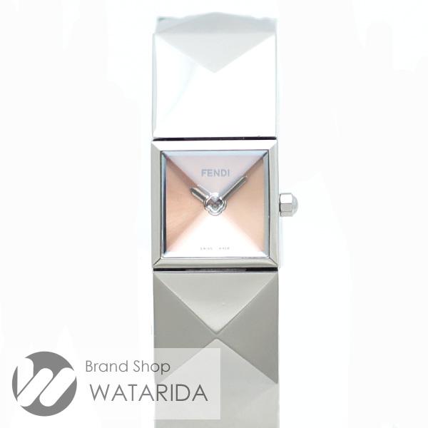 川崎の質屋【渡田質店】フェンディ 腕時計 ピラミッドブレスウォッチ 4250L SS ピンク文字盤 Qz【送料無料】のご紹介です。