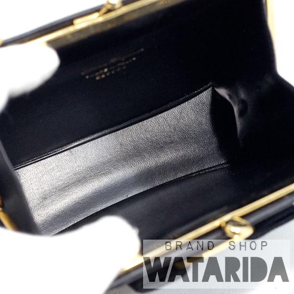 川崎の質屋【渡田質店】フェラガモ バッグ ショルダー ヴァラチェーンショルダーバッグ 223054 ブラックxゴールド 箱付 【送料無料】のご紹介です。