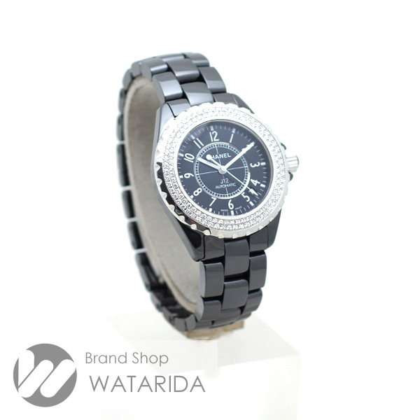 川崎の質屋【渡田質店】シャネル 腕時計 J12 38 AT H0950 ダイヤモンドベゼル セラミック SS ブラック 箱保付 【送料無料】のご紹介です。