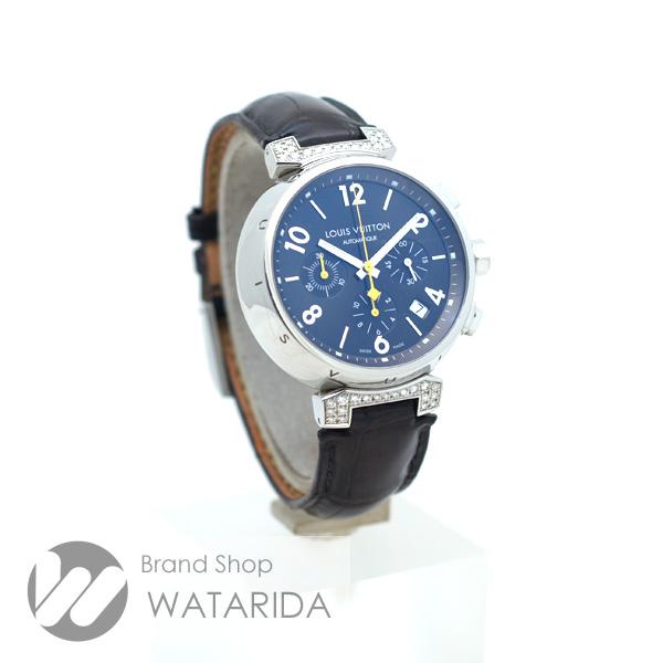 川崎の質屋【渡田質店】ルイヴィトン 腕時計 タンブール クロノグラフ Q112G ラグダイヤ ブラウン文字盤 革ベルト【送料無料】のご紹介です。