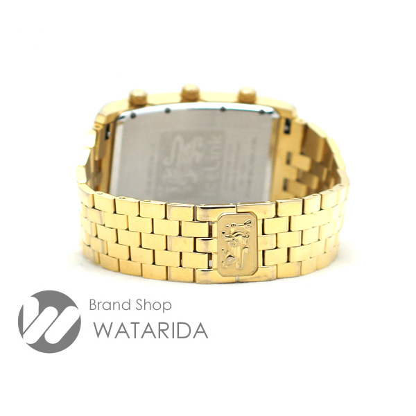川崎の質屋【渡田質店】アイスリンク 腕時計 4TIME ZONE ジェネレーション ビッグケース GZB-YYY ゴールド文字盤 箱・保付 【送料無料】のご紹介です。