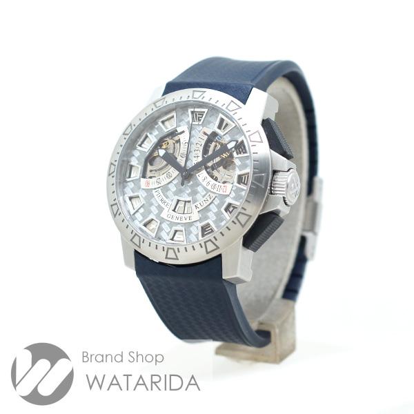 川崎の質屋【渡田質店】ピエール・クンツ 腕時計 G403 スポーツ クロノグラフ レトログラード PKG403 SS 箱・保付 【送料無料】のご紹介です。