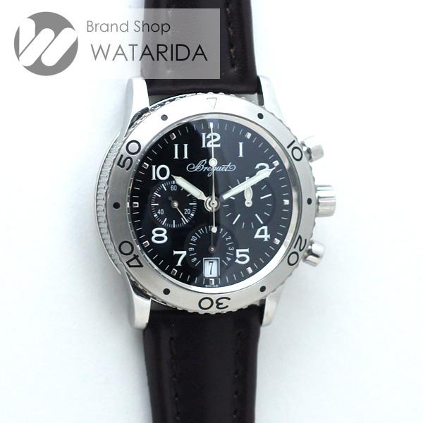 川崎の質屋【渡田質店】ブレゲ 腕時計 トランスアトランティック TypeXX 3820ST/H2/3W6 SS クロノグラフ レザーベルト Dバックル【送料無料】 のご紹介です。
