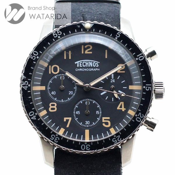 川崎の質屋【渡田質店】テクノス 腕時計 クロノ T4540SB Qz 黒文字盤 タグ付 【送料無料】のご紹介です。