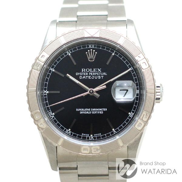 川崎の質屋【渡田質店】ロレックス 腕時計 デイトジャスト サンダーバード 16264 A番 SS WG 黒文字盤 保・タグ付 【送料無料】のご紹介です。