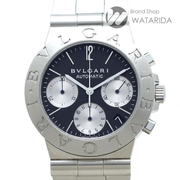 川崎の質屋 渡田質店 ブルガリ 腕時計 ディアゴノスポーツ クロノグラフ CH35S SS 黒文字盤 送料無料 のご紹介です。