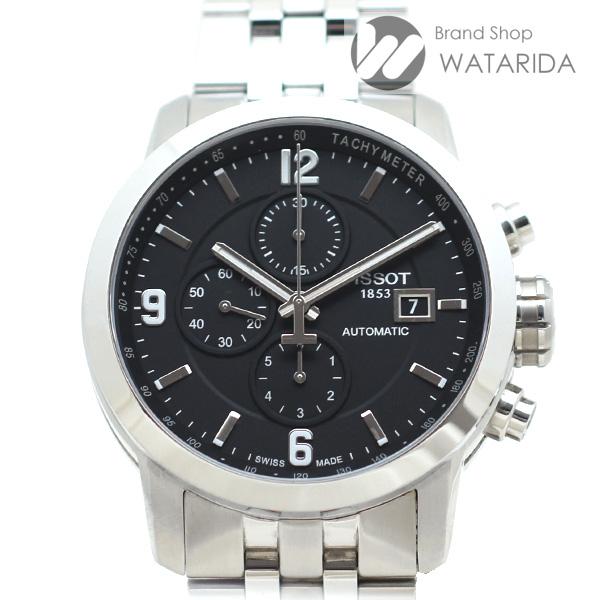 川崎の質屋 渡田質店 ティソ 腕時計 Tスポーツ クロノグラフ PRC200 T055.427.11.057.00 AT SS 黒文字盤 箱・保付 送料無料 のご紹介です。