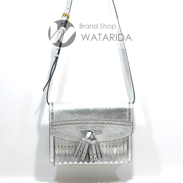 川崎の質屋 渡田質店 バーバリー バッグ タッセルフリンジ 2WAY ショルダーバッグ シルバー レザー 送料無料  のご紹介です。