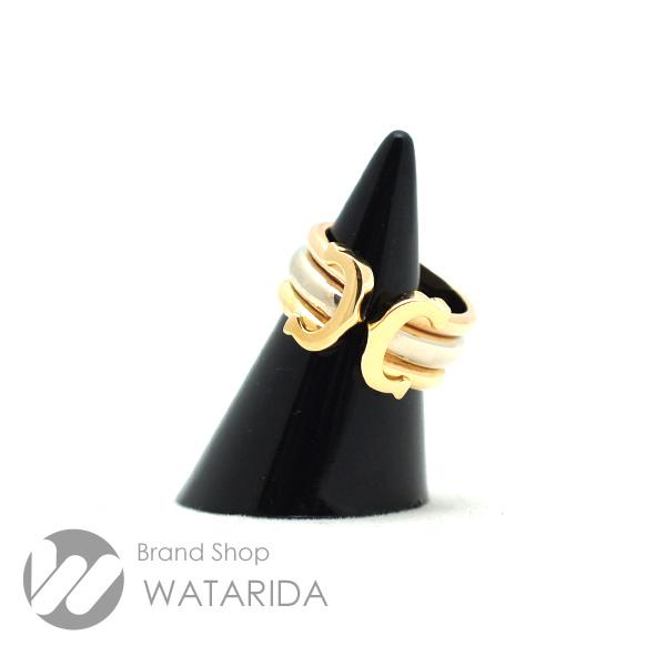 川崎の質屋 渡田質店 カルティエ 指輪 2C スリーカラー リング 750 YG WG PG 47 7号 送料無料 のご紹介です。