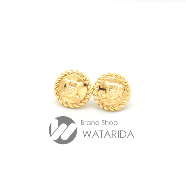 川崎の質屋 渡田質店 セリーヌ ピアス マカダム 750YG ゴールド 送料無料 のご紹介です。