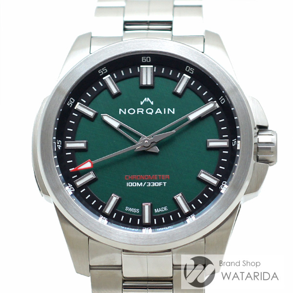 川崎の質屋 渡田質店 ノルケイン NORQAIN 腕時計 インディペンデンス 20 NN3000S03A/E301/102SI グリーン 箱・保付 世界限定200本 未使用品 送料無料 のご紹介です。