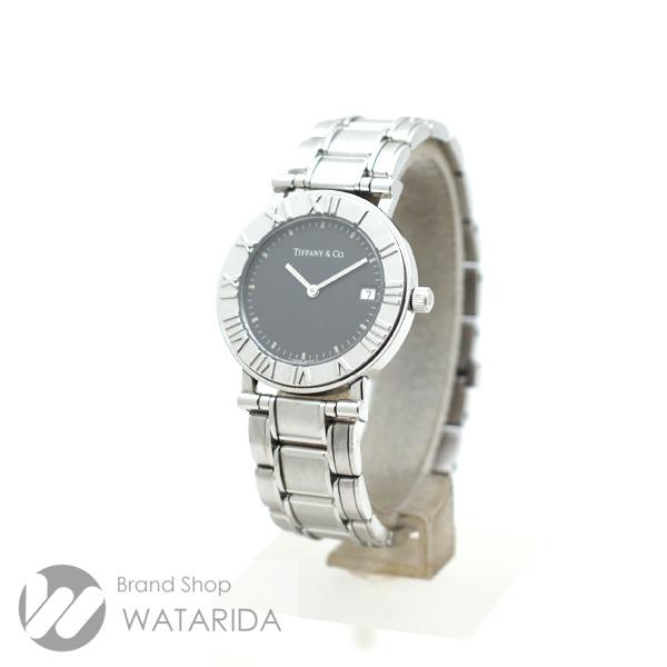 川崎の質屋 渡田質店 ティファニー 腕時計 アトラス ラウンド 33mm デイト Qz SS グレー文字盤 トリチウムインデックス 送料無料 のご紹介です。