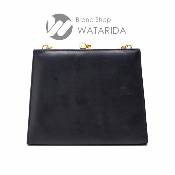川崎の質屋 渡田質店 フェラガモ バッグ ショルダー ヴァラチェーンショルダーバッグ がま口 223054 ブラックxゴールド 箱付 送料無料 のご紹介です。