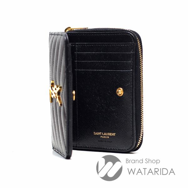 川崎の質屋 渡田質店 サンローラン 財布 モノグラム サンローラン コンパクト フルジップ ウォレット GUE403723 ブラック 箱・袋付 未使用品 送料無料  のご紹介です。