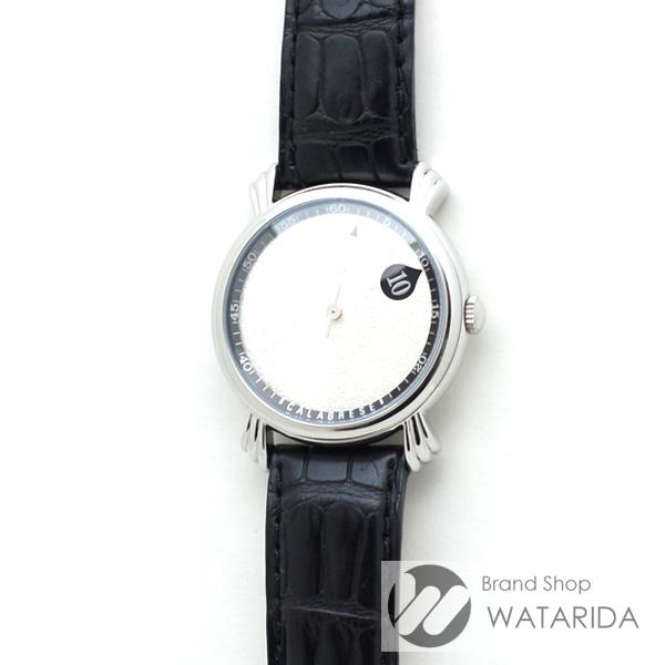 川崎の質屋 渡田質店 ヴィンセント カラブレーゼ 腕時計 バラディン ジャンピングアワー 純正ベルト・尾錠 シルバー文字盤 箱・保付 送料無料 のご紹介です。