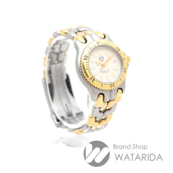 川崎の質屋 渡田質店 タグホイヤー 腕時計 セル S/el プロフェッショナル 200m S95.715 Qz SS GP コンビ アイボリー文字盤 レディース 送料無料 のご紹介です