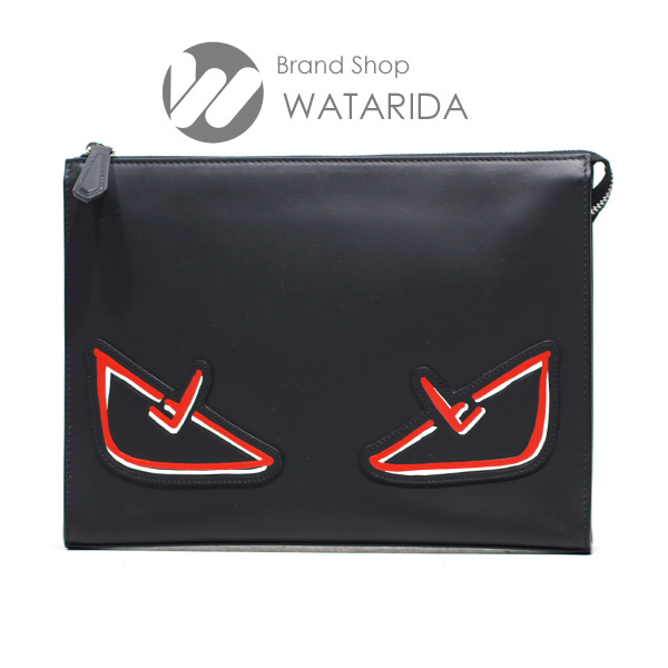 川崎の質屋 渡田質店 フェンディ バッグ バグズ アイ クラッチバッグ 7VA433 A72K F0P0N ブラック 箱・保存袋付 送料無料 のご紹介です。