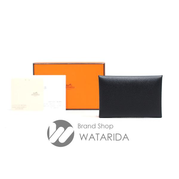 川崎の質屋 渡田質店 エルメス カードケース カルヴィ CALVI Y刻印 ブラック ヴォ― エプソン 箱・タグ付 未使用品 送料無料 のご紹介です。